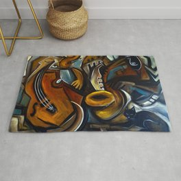 Black Cat Jazz Rug