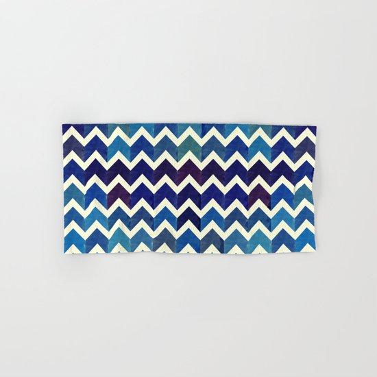 Watercolor Chevron Pattern III Hand & Bath Towel