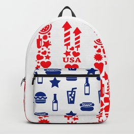 Fourth Of July Celebration USA Flag Backpack
