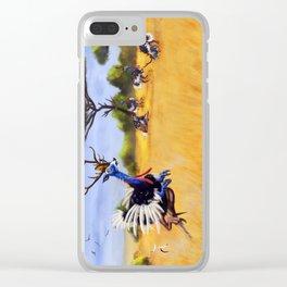 ostrich deer Clear iPhone Case