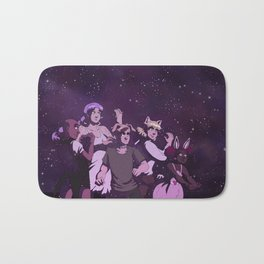 But I'm A Cat Person: Starlit Fights Bath Mat