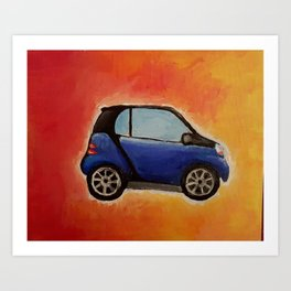 Smart Car Painting Art Print