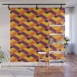 Isometric Colorful Cubes Wall Mural