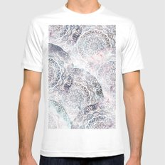 GALAXY BOHO MANDALAS MEDIUM Mens Fitted Tee White