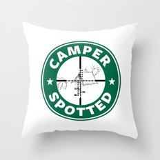 Camper Spotted Throw Pillow