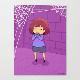 Undertale  spider donut Canvas Print
