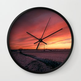 Winterfire Sky Wall Clock