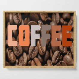 New Coffee Graphic Serving Tray