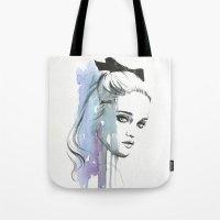 sky ferreira Tote Bags featuring Sky Ferreira by Cora-Tiana