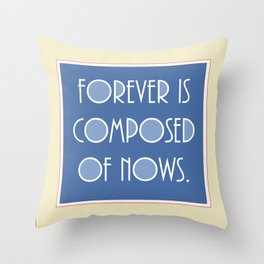 Emily Dickinson quote. Throw Pillow