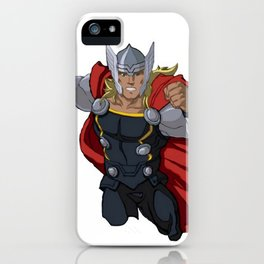 Thor and the Bird iPhone Case