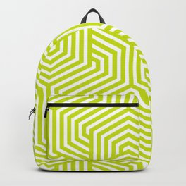 Bitter lemon - green - Minimal Vector Seamless Pattern Backpack