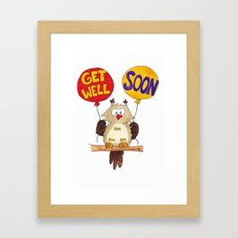 Get well soon greeting card by Nicole Janes Framed Art Print