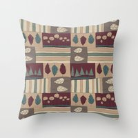 quilt Throw Pillows featuring Quilt by Molly Smisko