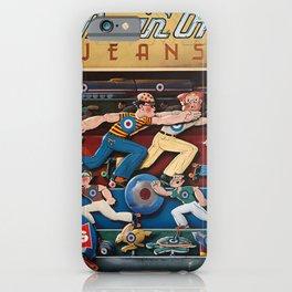 Advertisement movinon jeans levis  jeans iPhone Case