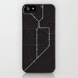 London Underground Northern Line Route Tube Map iPhone Case