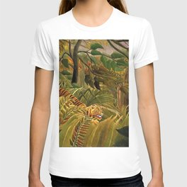 Tiger in a Tropical Storm - Surprised! by Henri Rousseau T-shirt