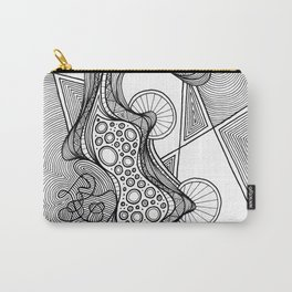 """GLOBULE"" Weird Psychedelic Art Carry-All Pouch"
