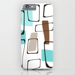 Midcentury Modern Shapes iPhone Case