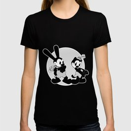 Oswald and Ortensia: Flowers (B/W) T-shirt