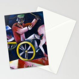 Le Marchand de bestiaux -The Drover, The Cattle Dealer by Marc Chagall Stationery Cards