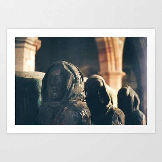Pallbearer Statue, Lindisfarne Church Art Print