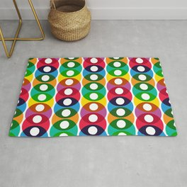 Geometric Pattern 64 (colorful bubbles) Rug