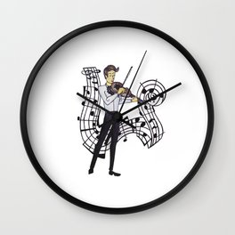 La Viola - The Violin Maestro Wall Clock