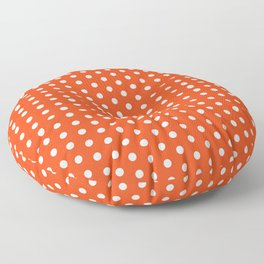 Florida fan university gators orange and blue college sports football dots pattern Floor Pillow