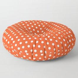 Florida fan university gators orange and blue college sports football dots pattern Floor Pillow