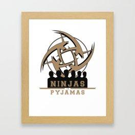 Ninjas in pyjamas! Counter strike team Framed Art Print
