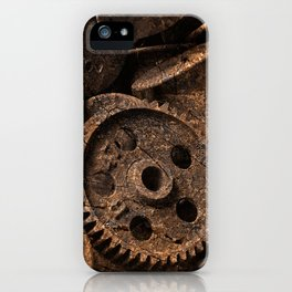 Cracked Wood Bobbins iPhone Case