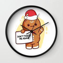 Gingerbread Matching Group Don't Touch Me Again Wall Clock