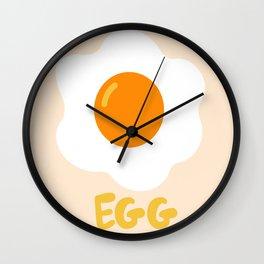 Egg orange Wall Clock