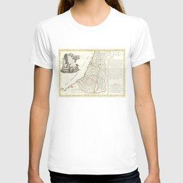 Vintage Map of Israel (1770) T-shirt