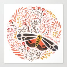Banded Tiger Moth Canvas Print