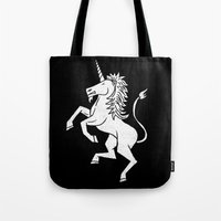unicorn Tote Bags featuring UNICORN by Matthew Taylor Wilson