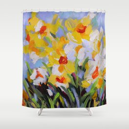 Daffodil Tangle Shower Curtain