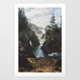 Misty Oregon Coast Art Print
