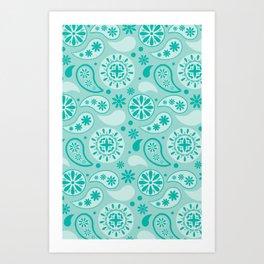 Bohemian Dream in Turquoise Art Print