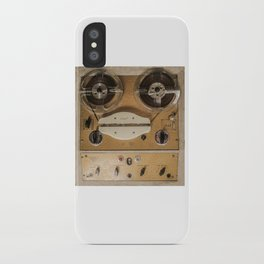Vintage tape sound recorder reel to reel iPhone Case