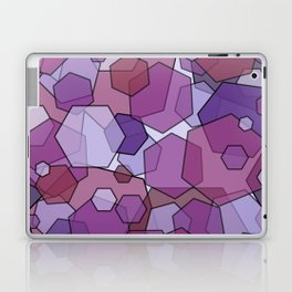 Converging Hexes - Mauve Pink and Purples Laptop & iPad Skin