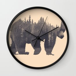 forest in the bear Wall Clock