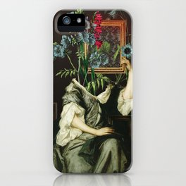 Florales Portrait Disaster iPhone Case