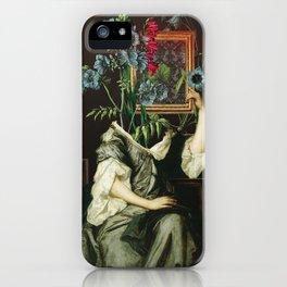 Florales Portrait Disaster iPhone Case