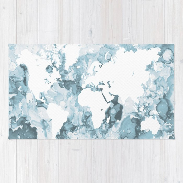 Design 103 world map rug by artbylucie society6 design 103 world map rug gumiabroncs Choice Image
