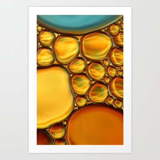 Abstract Oil & Water Art Print