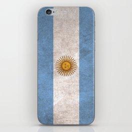 Argentina Flag (Vintage / Distressed) iPhone Skin