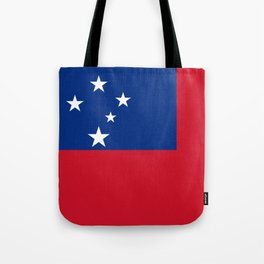 Samoan flag - Authentic version to scale and color Tote Bag