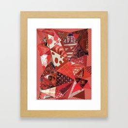 Collage - Red Hott Framed Art Print